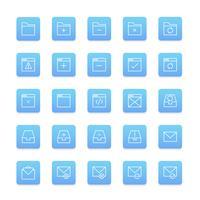 Vector conjunto de icono de carpeta