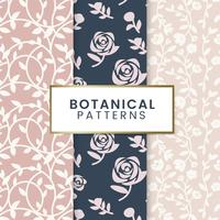 Botanical floral patterns illustration