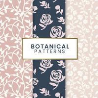 Illustrazione di motivi floreali botanici