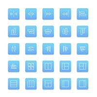 Vector conjunto de iconos de sitio web