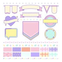 Various cute and girly design element vectors