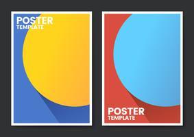 Design de modelo de cartaz de cor pop