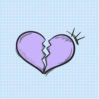 Vetor de coração quebrado ícone