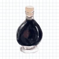 Style d'aquarelle dessiné à la main au vinaigre balsamique