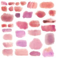 Pink watercolor style banner vector set
