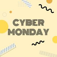 Cyber Monday online shopping promotion vector
