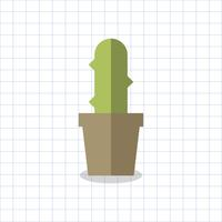 Illustration of a cactus in a pot