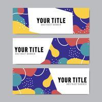 Modelli di progettazione di banner colorati e astratti