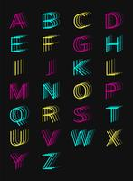 Vector of blurry style letters