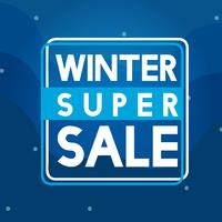 Winter super koop badge vector