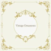 Vintage cadre vectoriel d'ornement s'épanouir