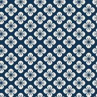 Nahtloses japanisches Muster mit Blumenmotivvektor