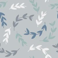 Simple pattern of branches on blue background