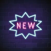 Nouveau dans le vecteur de signe au néon