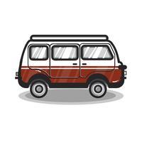 Handritad multifunktionsbilbil illustration