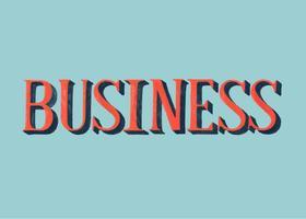 Handschriftlicher Stil der Business-Typografie