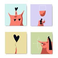 Romantik och kärleksbildsuppsättning