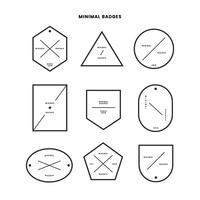 Collection de badges de style minimal