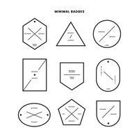 Colección de insignias de estilo minimalista.