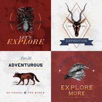 Colección de vectores de diseño de logo de aventura.