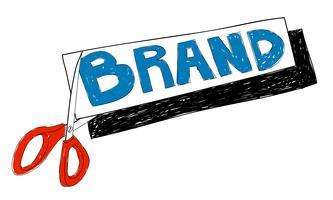 Illustration av affärsmärkning