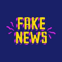 Illustrazione di tipografia di parola di notizie false