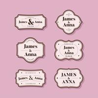 Klassischer Stil Hochzeitseinladung Abzeichen