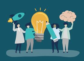 Illustration de concept idée entreprise créative