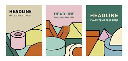 Kleurrijk mockup grafisch ontwerp van een krantekop