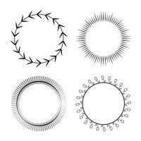 Coleção de vetor de design de ornamento redondo