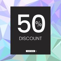 Shop now 50% discount vector