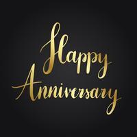 Felice anniversario stile tipografia vettoriale