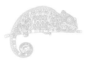 Kleurplaat van een kameleon