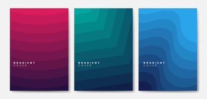 Conjunto de diseños gráficos de gradientes