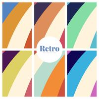 Set of colorful retro print backgrounds