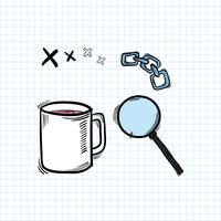 Vetor de ícone de xícara de café