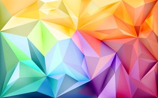 Background wallpaper with polygons in gradient colors