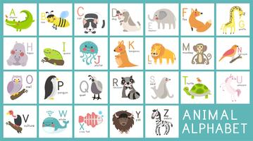 Illustrationszeichnungsartsatz von wild lebenden Tieren