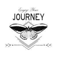 Disfruta de tu viaje logo diseño vectorial