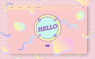Girly pastel website ontwerp vector