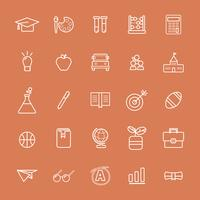 Illustration of education icons set