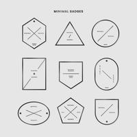 Minimal badge set