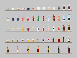 Coleção de vetores de bebidas