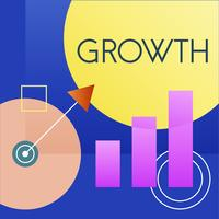 Illustrazione del grafico di crescita