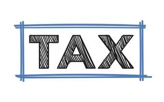 The word tax typography illustration