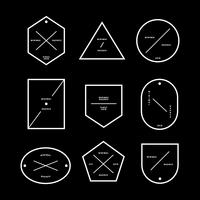 Set van minimale badges en labels