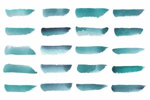 Painted abstract watercolor vector in green