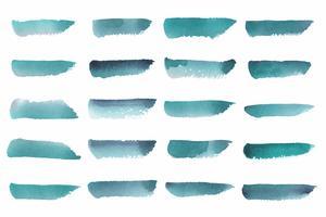 Gemalter abstrakter Aquarellvektor im Grün