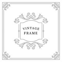 Flourishes vintage ornament frame illustration