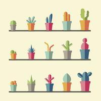 Raccolta di piante e vettori di alberi